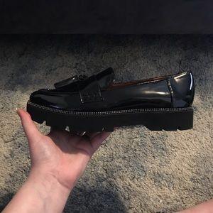 Black Franco Sarto Camden Heel Loafer